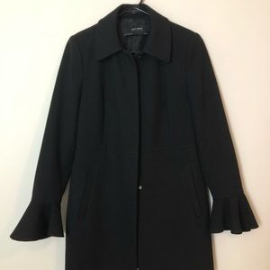 Black Zara jacket with flared sleeves